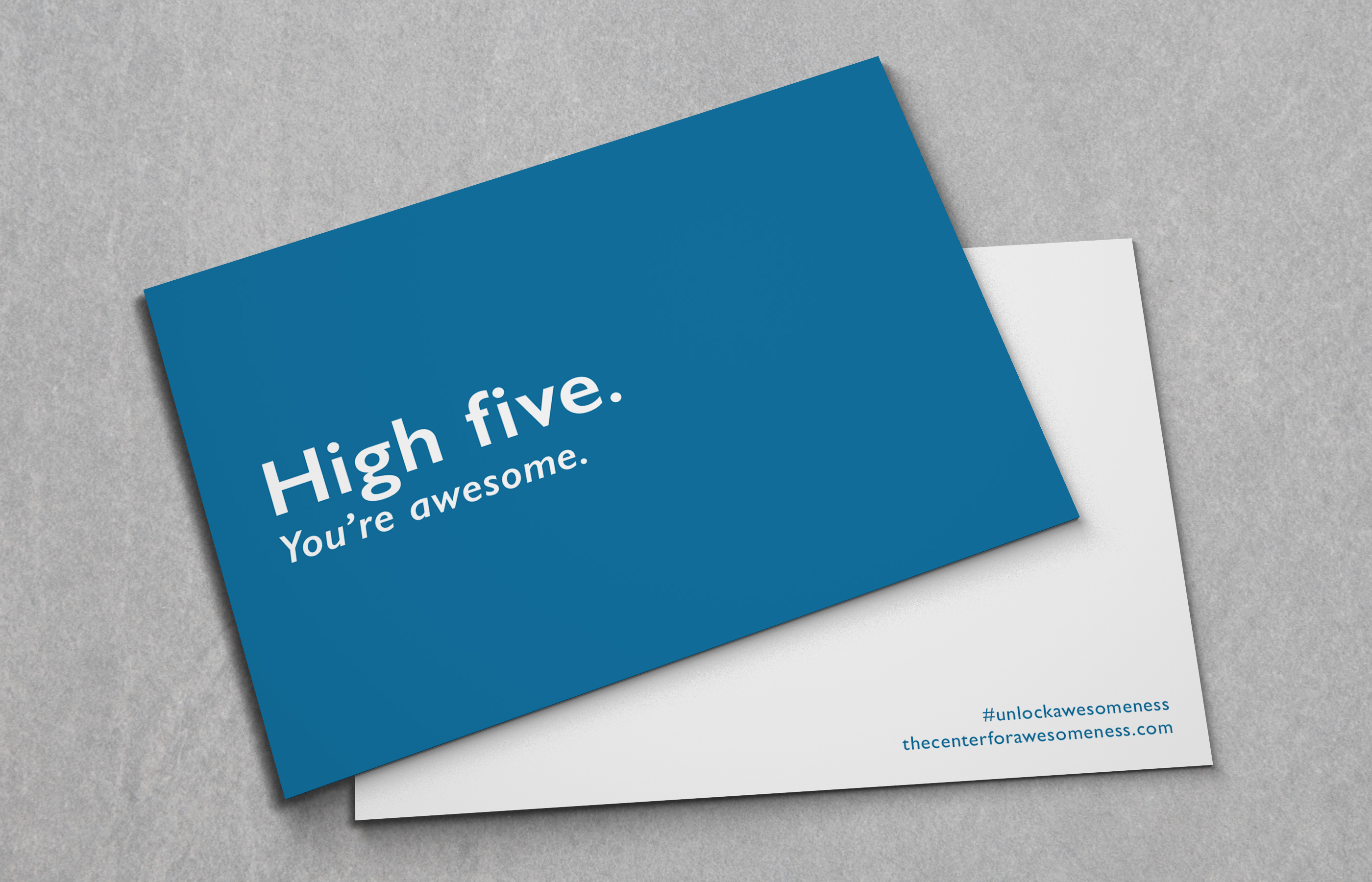 Products archive the center for awesomeness high five card reheart Choice Image